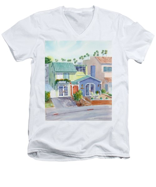 The Most Colorful Home In Belmont Shore Men's V-Neck T-Shirt