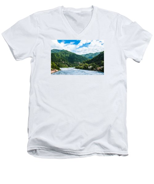 The Mountain Valley Of Rishikesh Men's V-Neck T-Shirt