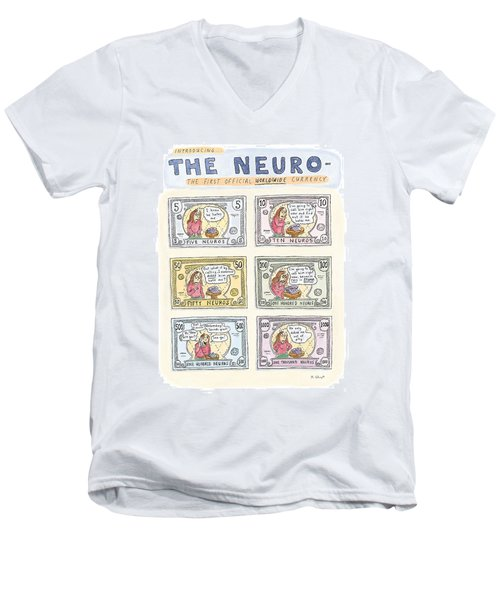 The Neuro  -   The First Official Worldwide Men's V-Neck T-Shirt