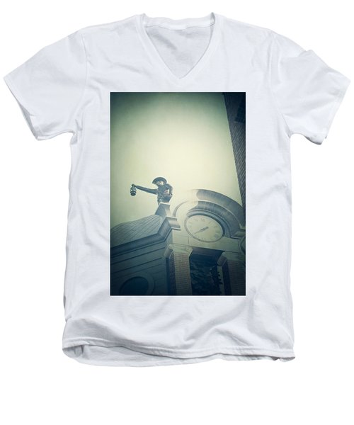 Men's V-Neck T-Shirt featuring the photograph The Night Watchman by Trish Mistric