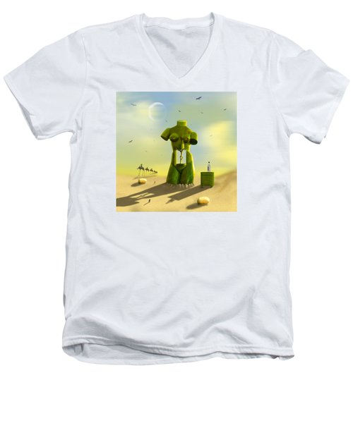 The Nightstand Men's V-Neck T-Shirt by Mike McGlothlen