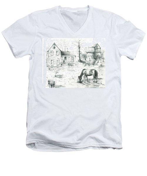 The Old Horse Farm Men's V-Neck T-Shirt