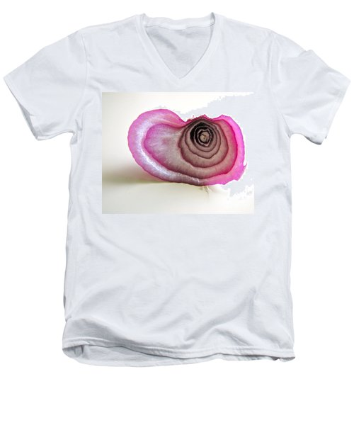 Men's V-Neck T-Shirt featuring the photograph The Onion Remnant by Sean Griffin