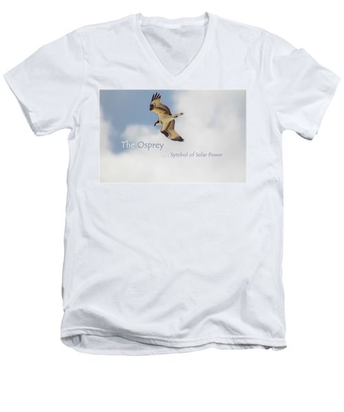 Men's V-Neck T-Shirt featuring the photograph The Osprey by DigiArt Diaries by Vicky B Fuller