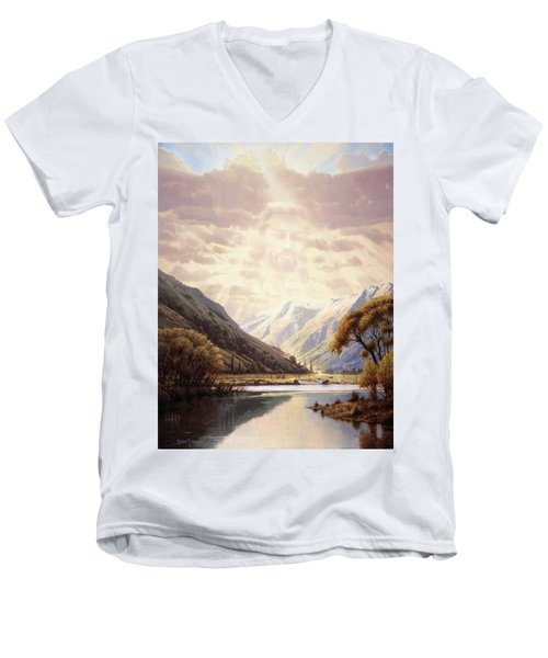 The Path Of Life Men's V-Neck T-Shirt