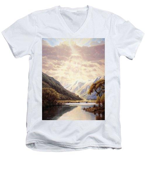 The Path Of Life Men's V-Neck T-Shirt
