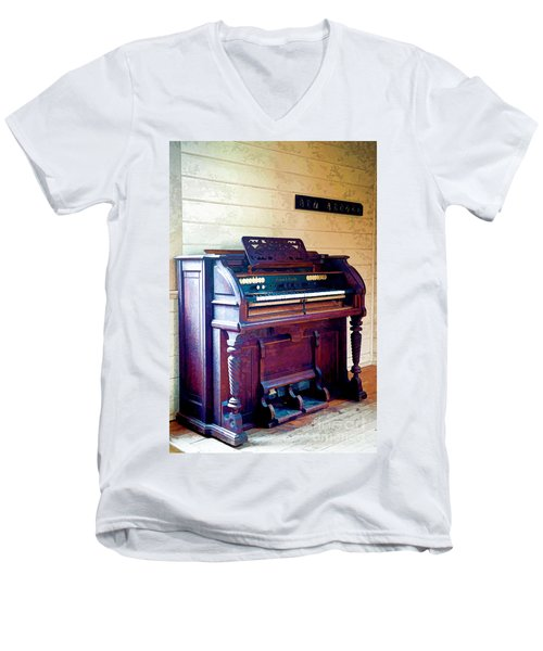 The Piano Men's V-Neck T-Shirt
