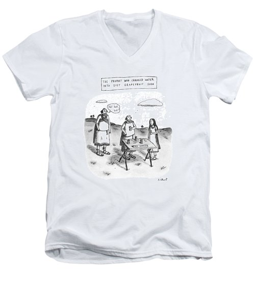 The Prophet Who Changed Water Into Diet Men's V-Neck T-Shirt by Roz Chast