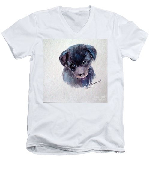 The Puppy Men's V-Neck T-Shirt