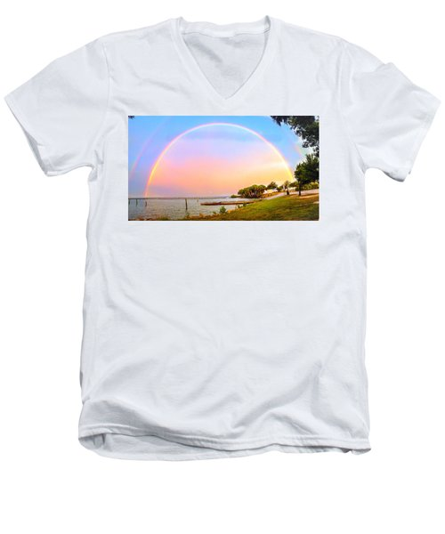 The Rainbow Men's V-Neck T-Shirt by Carlos Avila