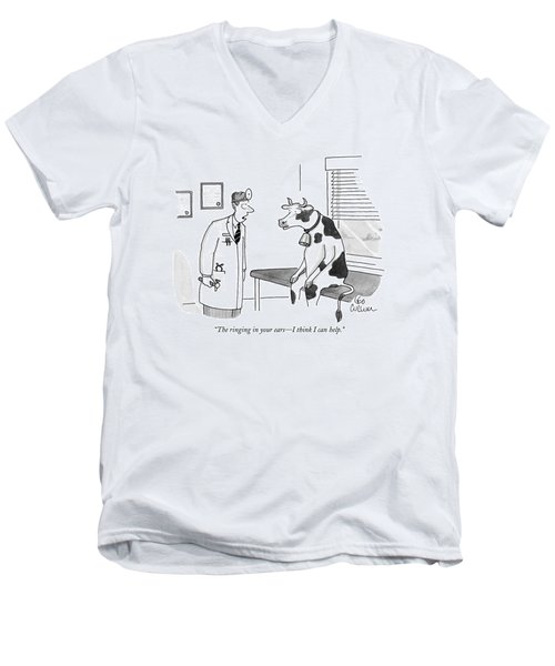 The Ringing In Your Ears - I Think I Can Help Men's V-Neck T-Shirt