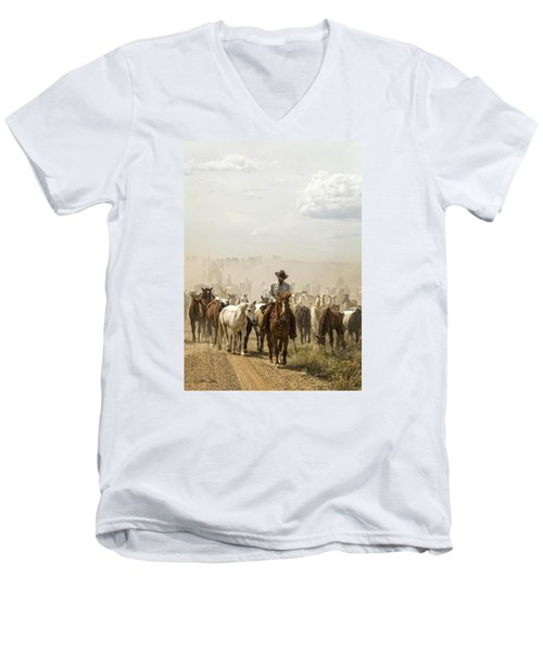 The Road Home 2013 Men's V-Neck T-Shirt by Joan Davis