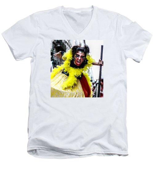 Men's V-Neck T-Shirt featuring the photograph The Scream Crusher by Stwayne Keubrick