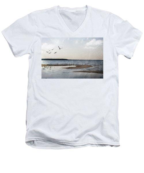 The Shallows At Whitefish Bay Men's V-Neck T-Shirt