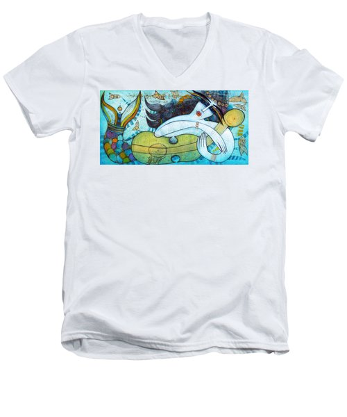 The Song Of The Mermaid Men's V-Neck T-Shirt