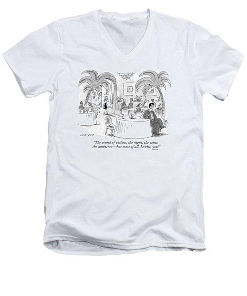 The Sound Of Violins Men's V-Neck T-Shirt