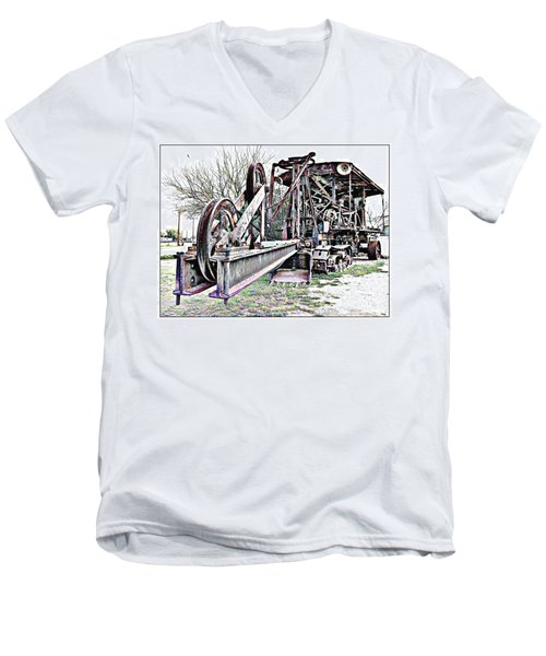 Men's V-Neck T-Shirt featuring the photograph The Steam Shovel by Glenn McCarthy Art and Photography