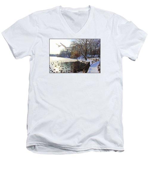 The End Of The Storm Men's V-Neck T-Shirt by Dora Sofia Caputo Photographic Art and Design