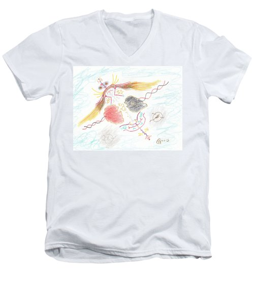 The Story Knows Best Men's V-Neck T-Shirt by Mark David Gerson