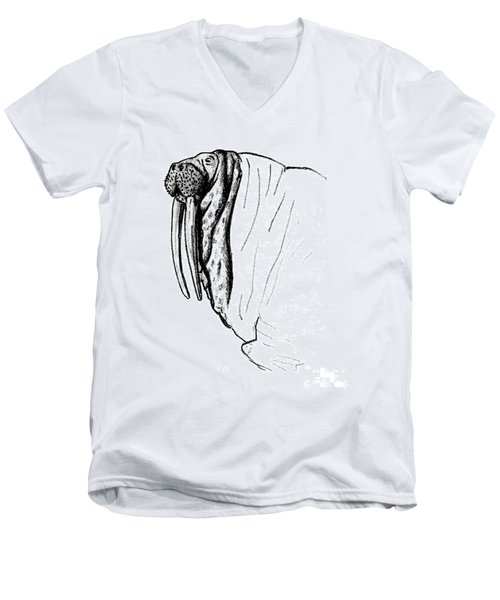 The Time Has Come The Walrus Said Men's V-Neck T-Shirt