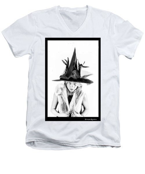 Men's V-Neck T-Shirt featuring the photograph The Tiny Witch by Stwayne Keubrick