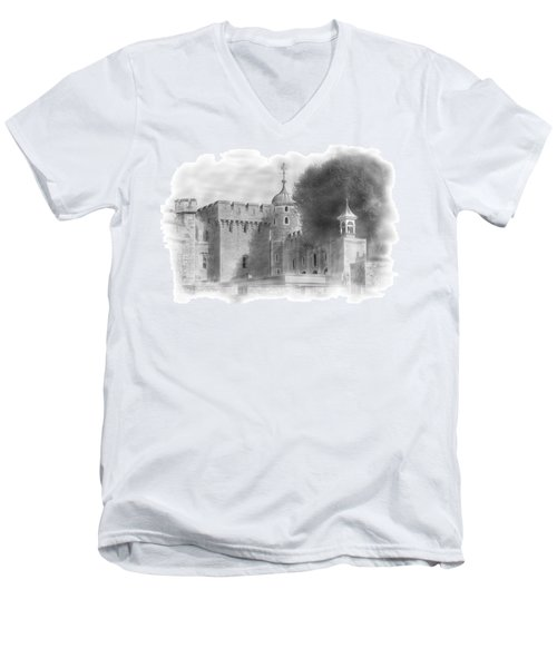 The Tower Of London Men's V-Neck T-Shirt