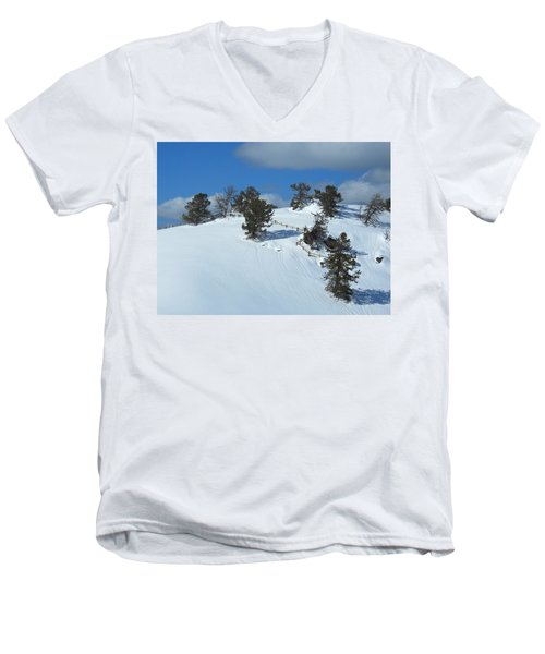 The Trees Take A Snow Day Men's V-Neck T-Shirt by Michele Myers