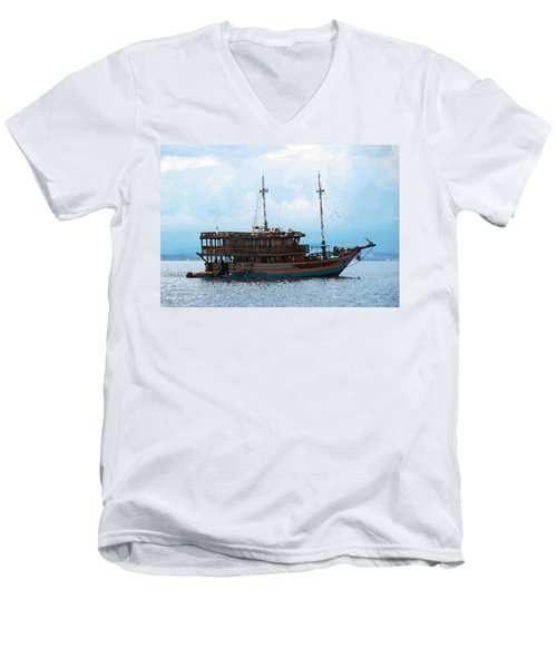 Men's V-Neck T-Shirt featuring the photograph The Trip To Bunaken by Sergey Lukashin