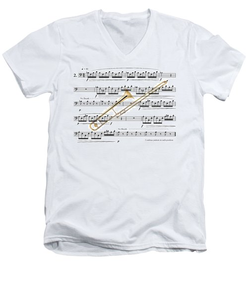 The Trombone Men's V-Neck T-Shirt