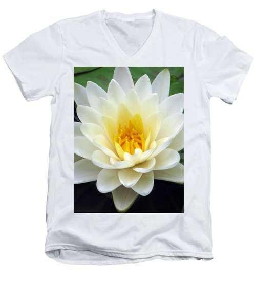 Men's V-Neck T-Shirt featuring the photograph The Water Lilies Collection - 03 by Pamela Critchlow