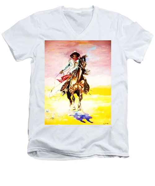 The Way Of The Vaquero Men's V-Neck T-Shirt
