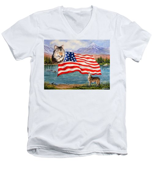 The Wildlife Freedom Collection 1 Men's V-Neck T-Shirt