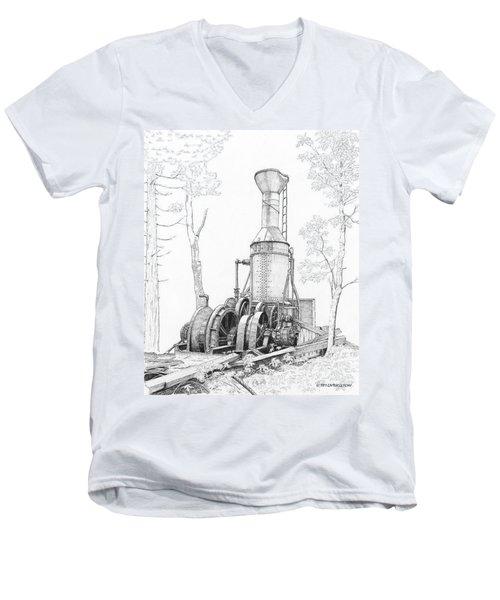 The Willamette Steam Donkey Men's V-Neck T-Shirt