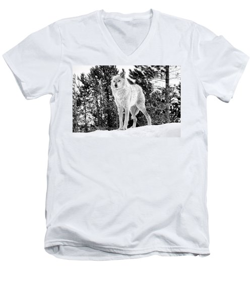 The Wolf  Men's V-Neck T-Shirt