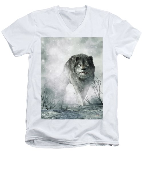 The Wolf Of Winter Men's V-Neck T-Shirt