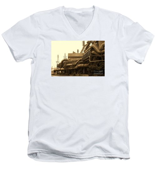 The Worm Passageways Men's V-Neck T-Shirt by Marcia Lee Jones