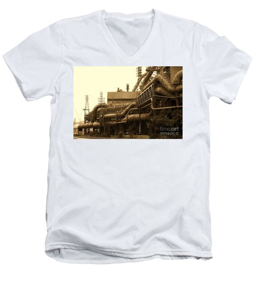 The Worm Passageways Men's V-Neck T-Shirt