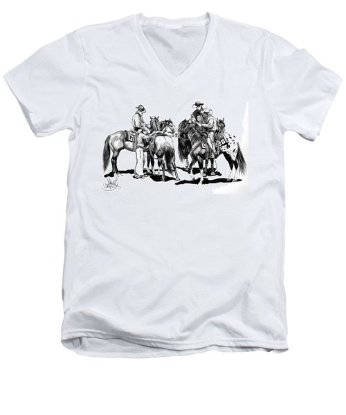 The Youngster Men's V-Neck T-Shirt by Cheryl Poland