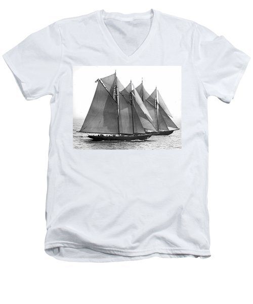 Thebaud Passes Bluenose Men's V-Neck T-Shirt
