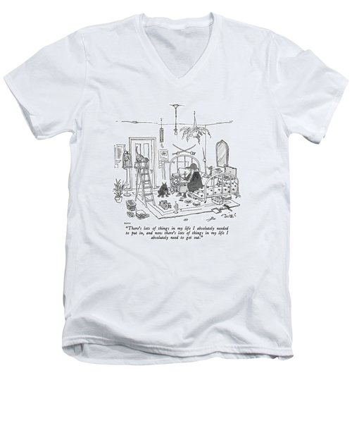 There's Lots Of Things In My Life I Absolutely Men's V-Neck T-Shirt