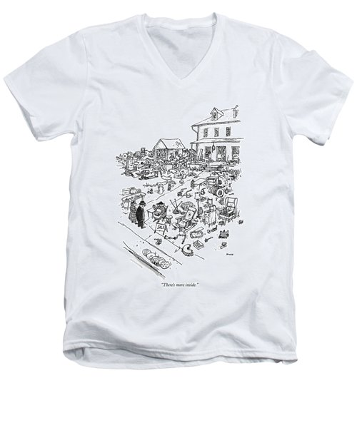 There's More Inside Men's V-Neck T-Shirt