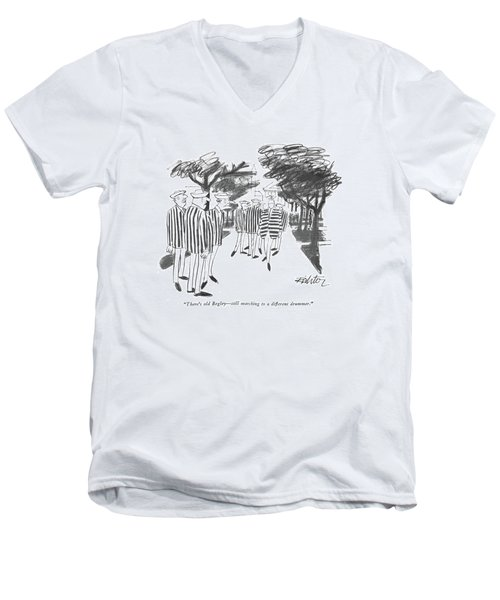There's Old Begley - Still Marching Men's V-Neck T-Shirt