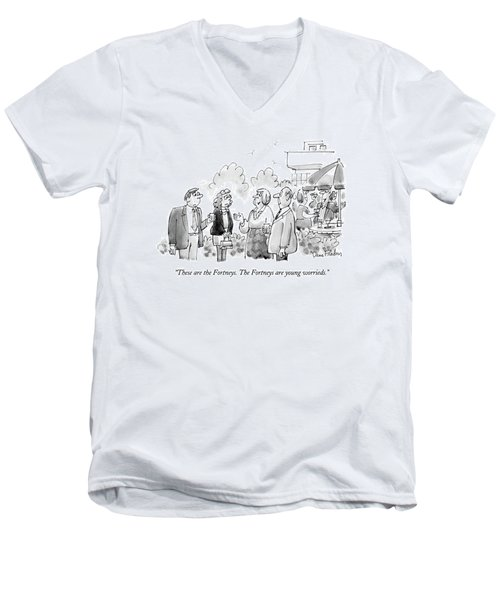 These Are The Fortneys.  The Fortneys Are Young Men's V-Neck T-Shirt