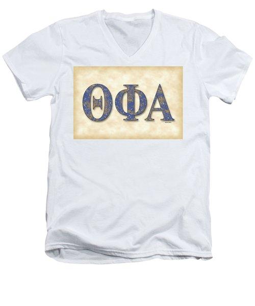 Theta Phi Alpha - Parchment Men's V-Neck T-Shirt by Stephen Younts