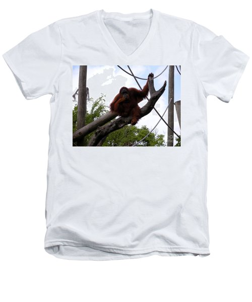 Thinking Of You Men's V-Neck T-Shirt by Joseph Baril