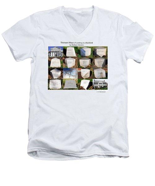 Thirteen Ways Of Looking At A Blackbird Men's V-Neck T-Shirt