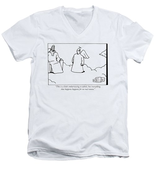 This Is A Little Embarrassing To Admit Men's V-Neck T-Shirt
