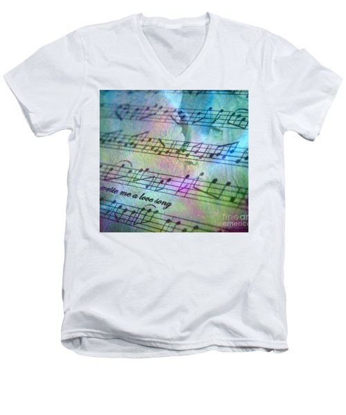 This Song's For You Men's V-Neck T-Shirt by Irma BACKELANT GALLERIES