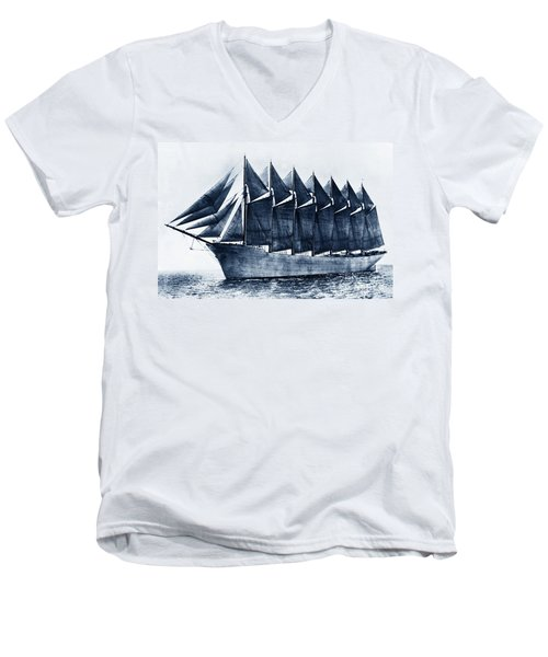 Thomas W. Lawson Seven-masted Schooner 1902 Men's V-Neck T-Shirt