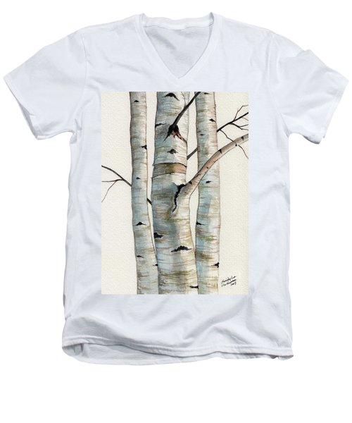 Three Birch Trees Men's V-Neck T-Shirt